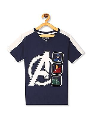 Colt Blue Boys V-Neck Avengers Graphic T-Shirt