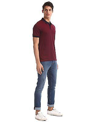 Arrow Sports Blue James Slim Fit Stone Wash Jeans