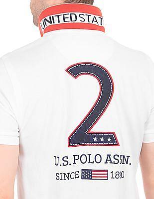 U.S. Polo Assn. Appliqued Back Slim Fit Polo Shirt