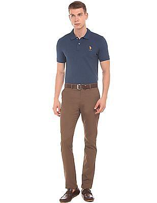 U.S. Polo Assn. Heathered Slim Fit Polo Shirt