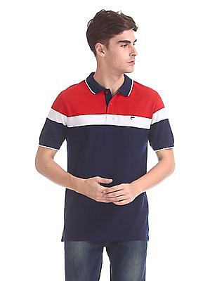 Ruggers Slim Fit Colour Block Polo Shirt