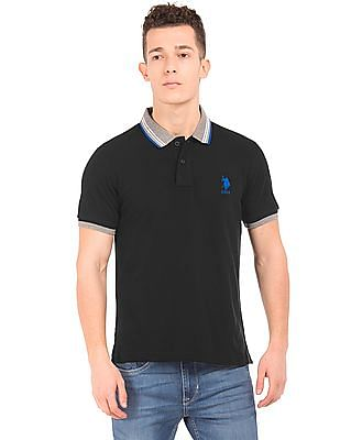 U.S. Polo Assn. Tipped Slim Fit Polo Shirt