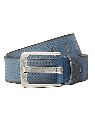 Flying Machine Perforated Leather Belt