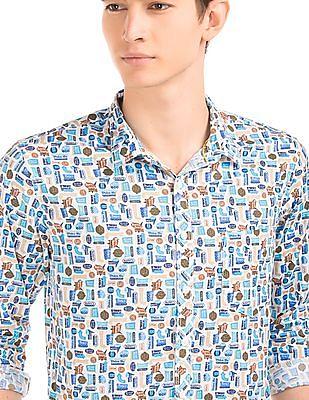 Colt Printed Slim Fit Shirt