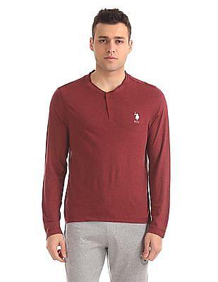 USPA Innerwear Regular Fit Henley T-Shirt