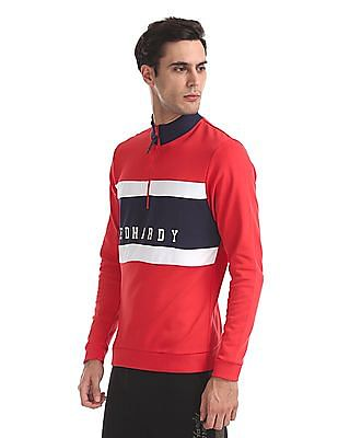 Ed Hardy Striped Zip-Up Sweatshirt