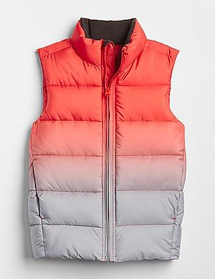 GAP Boys ColdControl Max Ombre Puffer Vest