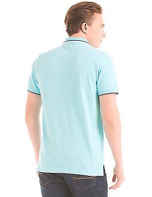 Aeropostale Aqua Contrast-Tipped Polo Shirt