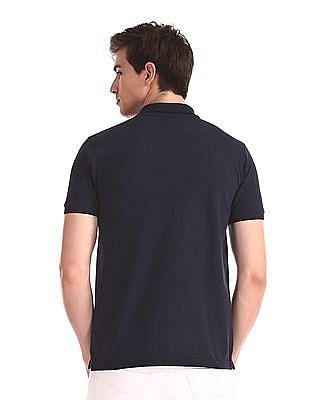 Ruggers Blue Heathered Vented Hem Polo Shirt