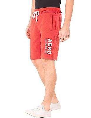 Aeropostale Brand Applique Knit Shorts