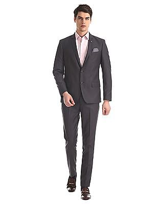 Arrow Newyork Grey Zero Calorie Slim Fit Single Breasted Suit