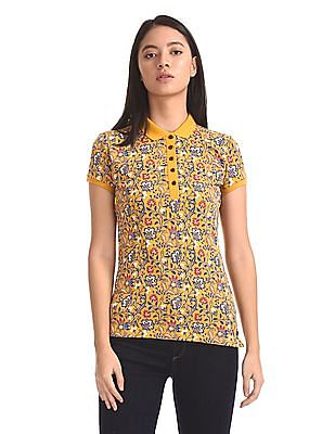 U.S. Polo Assn. Women Printed Polo Shirt