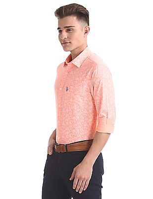 U.S. Polo Assn. Regular Fit Floral Printed Shirt