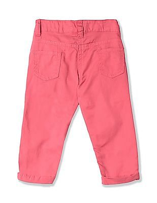 Donuts Pink Girls Flat Front Woven Trousers