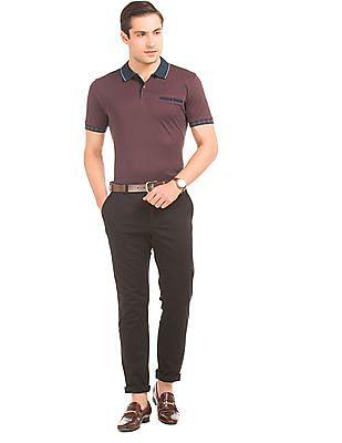 Arrow Contrast Collar Pique Polo Shirt