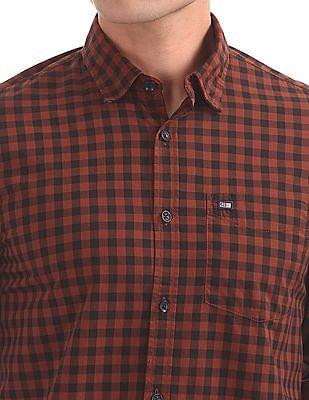 Arrow Sports Slim Fit Gingham Shirt