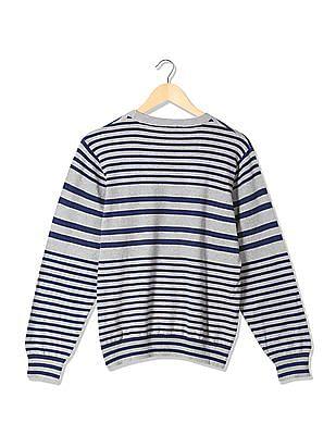 Izod Crew Neck Striped Sweater