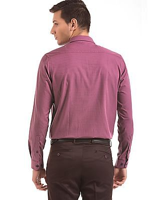 Geoffrey Beene Jacquard Weave Regular Fit Shirt