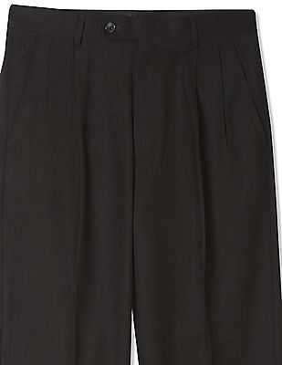Arrow Slim Fit Pleated Front Trousers
