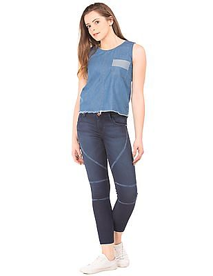 Flying Machine Women Dark Wash Super Skinny Jeans