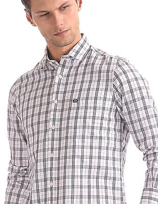 Arrow Sports White Slim Fit Patch Pocket Shirt