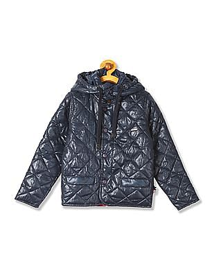 U.S. Polo Assn. Kids Boys Hooded Quilted Jacket