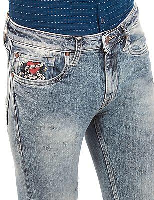 Ed Hardy Light Wash Super Slim Fit Jeans
