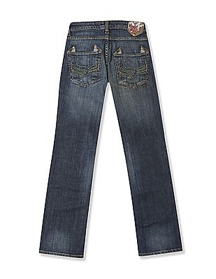 Flying Machine Women Blue Regular Fit Stone Wash Jeans
