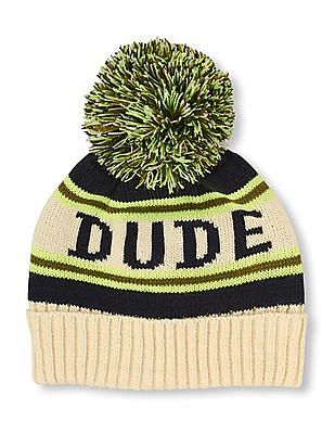 The Children's Place Boys Dude Pom Pom Beanie