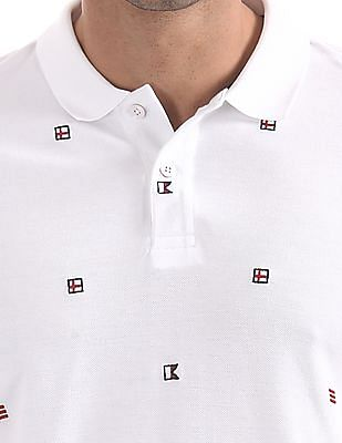 Arrow Sports Regular Fit Embroidered Polo Shirt
