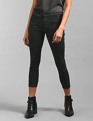 GAP Mid Rise Leopard Print Ankle Jeggings