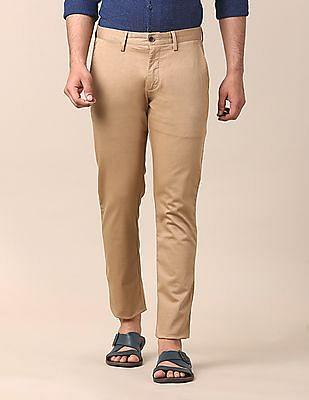 True Blue Slim Fit Micro Dot Print Trousers