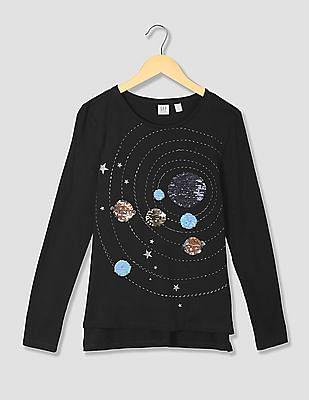 e69b66b81 Buy Girls Girls Flippy Sequin Graphic T-Shirt online at NNNOW.com