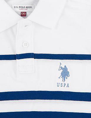 U.S. Polo Assn. Kids Boys Striped Pique Polo Shirt