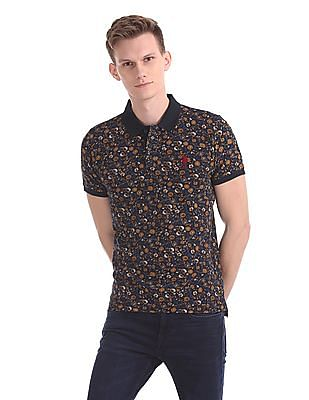 U.S. Polo Assn. Floral Print Short Sleeve Polo Shirt
