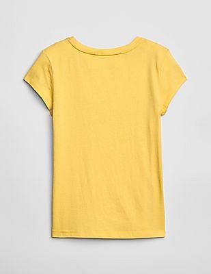 GAP Girls Metallic Emoji Graphic T-Shirt