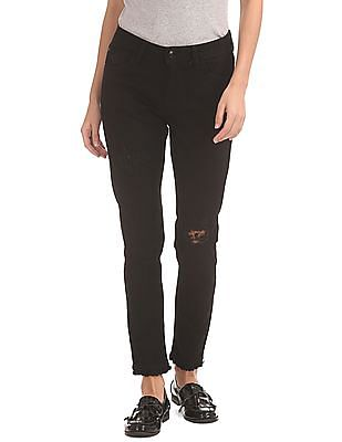Flying Machine Women Distressed Skinny Jeans