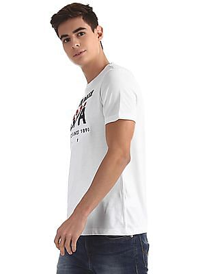 U.S. Polo Assn. White Crew Neck Embroidered Logo T-Shirt