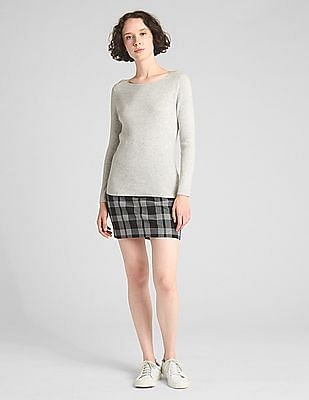 GAP Ribbed Boatneck Pullover Sweater