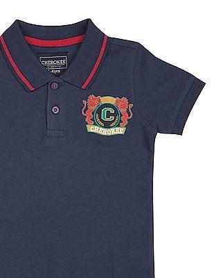 Cherokee Boys Solid Pique Polo Shirt