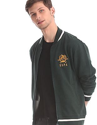 U.S. Polo Assn. Green Tipped Zip Up Sweatshirt