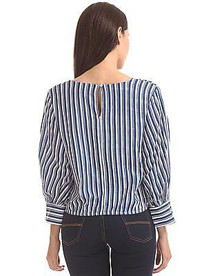 Cherokee Long Sleeve Striped Top