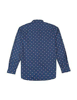 U.S. Polo Assn. Kids Boys Printed Regular Fit Shirt
