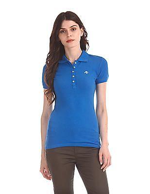 Aeropostale Short Sleeve Pique Polo Shirt