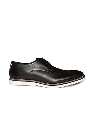 Arrow Sports Contrast Sole Leather Derby Shoes