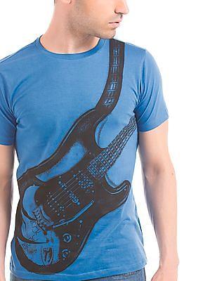 Colt Guitar Print Short Sleeve T-Shirt
