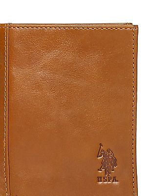 U.S. Polo Assn. Attached Card Holder Leather Wallet