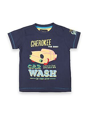 Cherokee Boys Appliqued Front T-Shirt