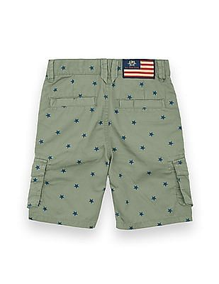 U.S. Polo Assn. Kids Boys Star Print Cargo Shorts