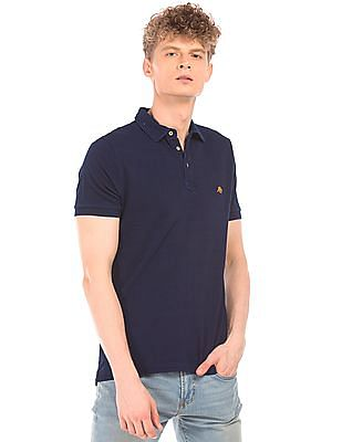 Aeropostale Dark Wash Pique Polo Shirt